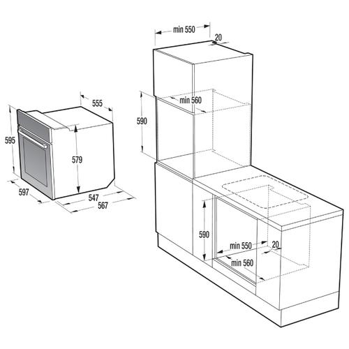 Электрический духовой шкаф Gorenje BO 658A34 BG