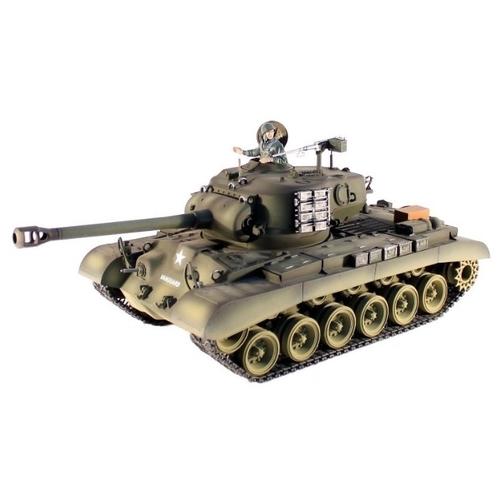 Танк Heng Long M26 Pershing Snow Leopard (3838-1PRO) 1:16 50 см