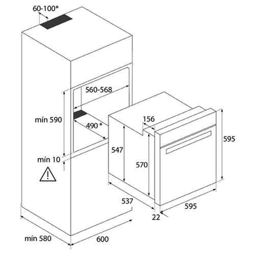 Электрический духовой шкаф TEKA HBB 735 STAINLESS STEEL (41560210)