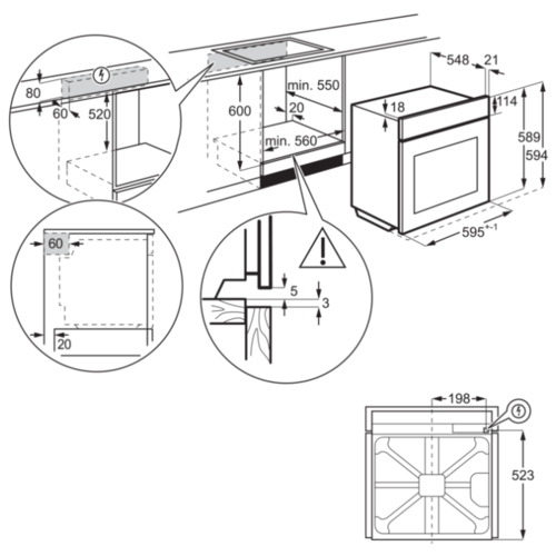 Электрический духовой шкаф AEG BSK 575221 M