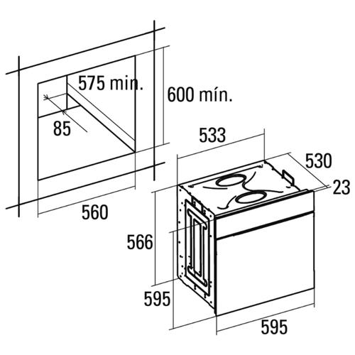 Электрический духовой шкаф CATA ME 7107 WH
