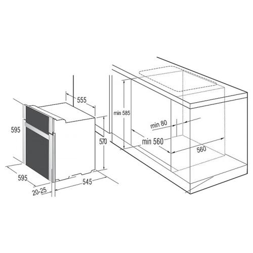 Электрический духовой шкаф Korting OKB 9102 CSGN PRO