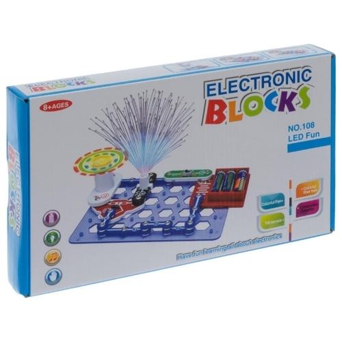 Электронный конструктор Ningbo Union Vision Electronic Blocks YJ188170489 Эксперименты со светодиодным освещением