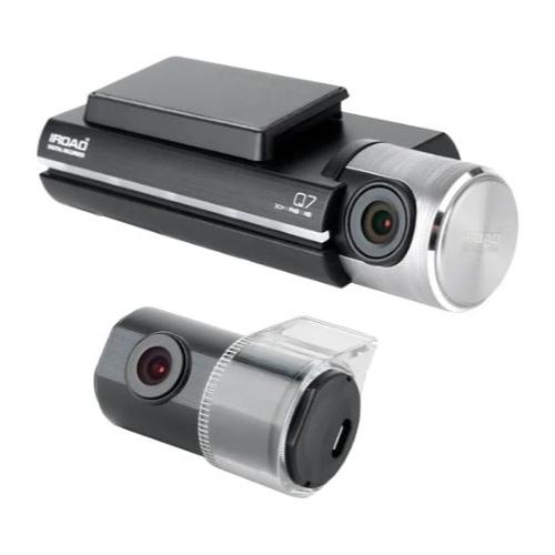 Видеорегистратор IROAD Q7 с GPS, 2 камеры, GPS