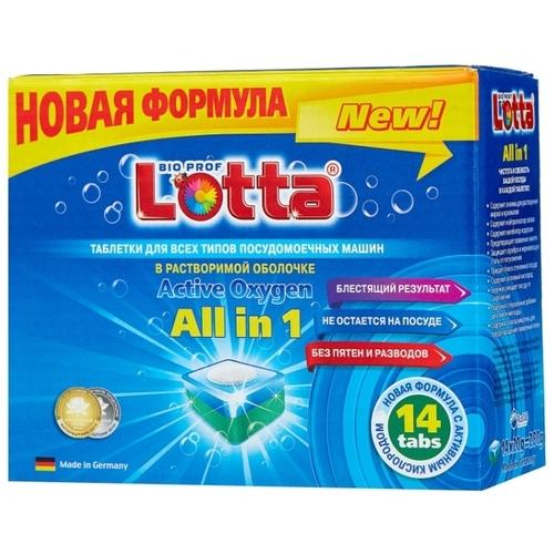 Lotta All in 1 в растворимой оболочке таблетки для посудомоечной машины