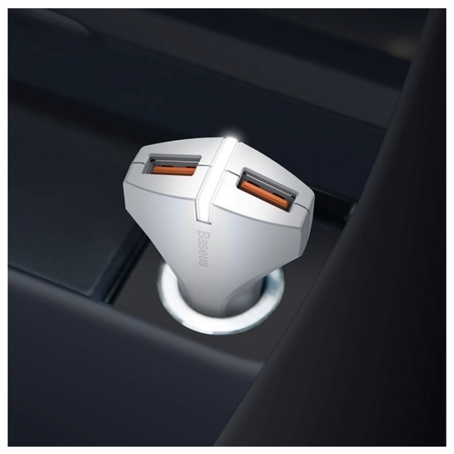 Автомобильная зарядка Baseus Small Rocket QC3.0 Dual-USB Car Charger CCALL-RK01/RK02