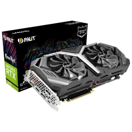 Видеокарта Palit GeForce RTX 2070 1410MHz PCI-E 3.0 8192MB 14000MHz 256 bit HDMI HDCP GameRock Premium