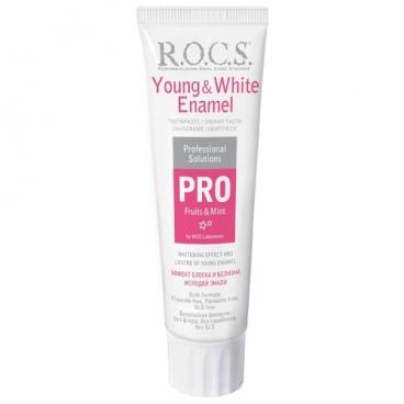 Зубная паста R.O.C.S. Pro Young & White Enamel, фрукты и мята