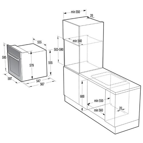 Электрический духовой шкаф Gorenje BO 617 ORAW