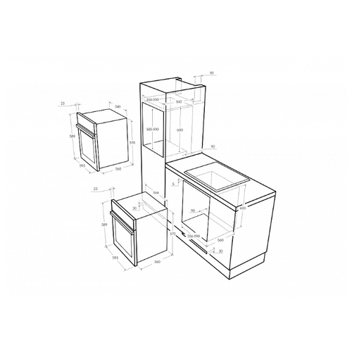 Электрический духовой шкаф MAUNFELD MEOFE.676RBG2.TMS