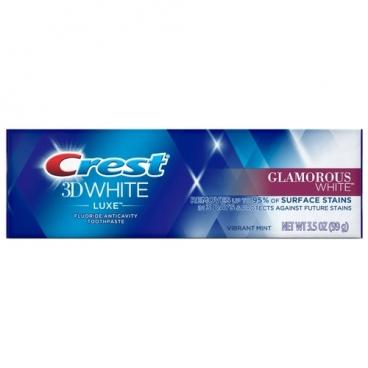 Зубная паста Crest 3D white luxe glamorous white, мята