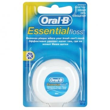 Oral-B зубная нить Essential невощеная