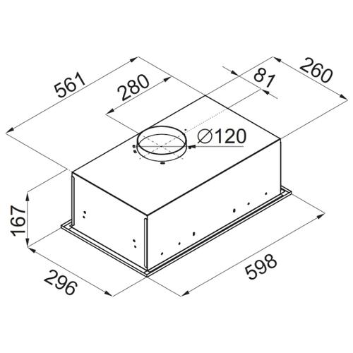 Встраиваемая вытяжка MAUNFELD Crosby Singl 60 нержавеющая сталь