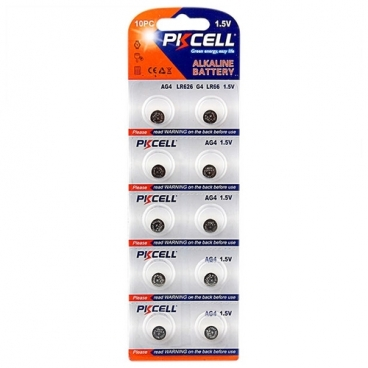 Батарейка PKCELL Super Akaline Button Cell AG4