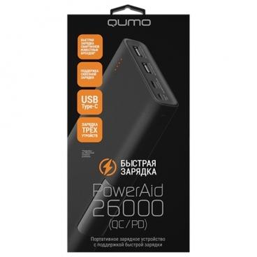 Аккумулятор Qumo PowerAid 26000 QC/PD (24051)