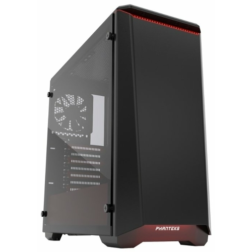 Компьютерный корпус Phanteks Eclipse P400 Tempered Glass Black/red