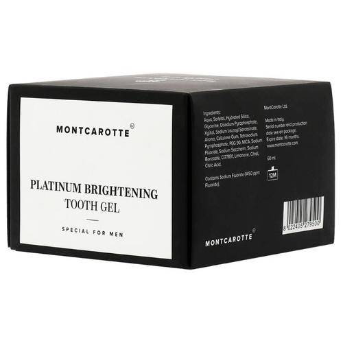 Зубной гель Montcarotte Платиновое сияние для мужчин