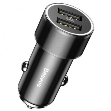 Автомобильная зарядка Baseus Small Screw 3.4A Dual-USB Type-C Car Charging Set TZXLD-B01