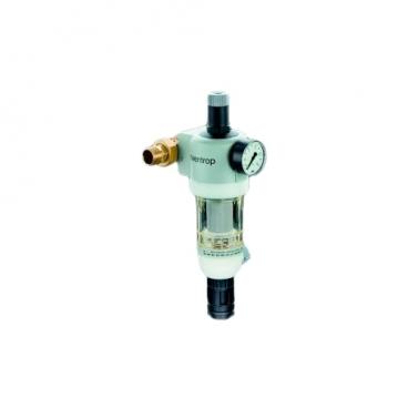 Фильтр механической очистки oventrop Домашняя станция очистки воды PN16 муфтовый (НР/НР), бронза, с манометром