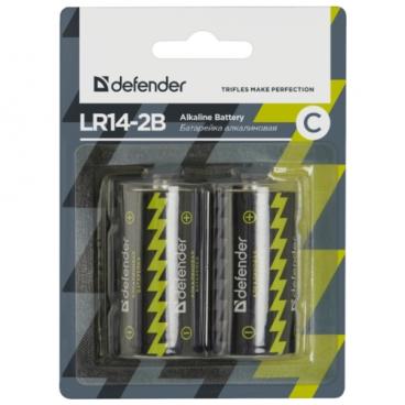 Батарейка Defender алкалиновая C LR14