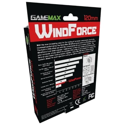 Система охлаждения для корпуса GameMax WindForce 4 x Red LED