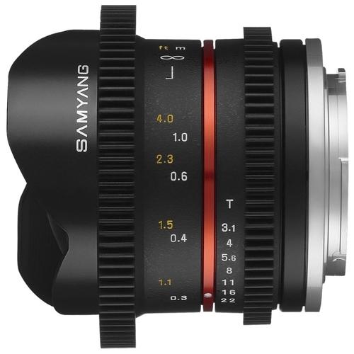 "Объектив Samyang 8mm T3.1 V-DSLR UMC Fish-eye II Canon M"""