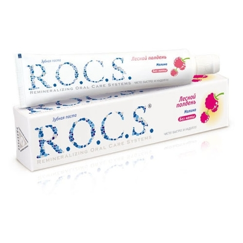 Зубная паста R.O.C.S. Лесной полдень, малина