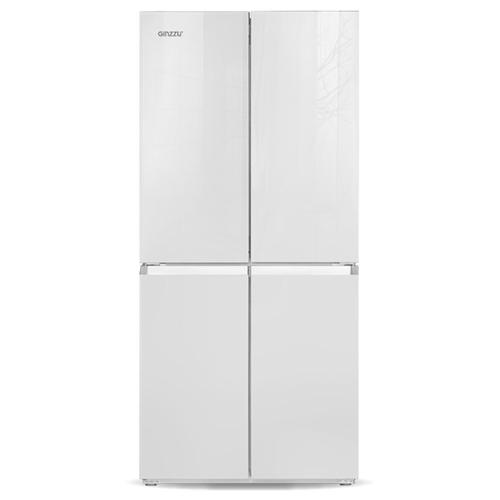 Холодильник Ginzzu NFK-425 White glass
