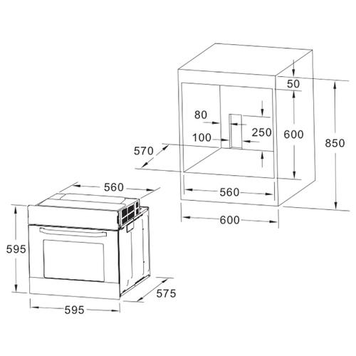 Электрический духовой шкаф AKPO PEA 080 WH