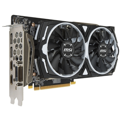 Видеокарта MSI Radeon RX 580 1366Mhz PCI-E 3.0 4096Mb 7000Mhz 256 bit DVI 2xHDMI HDCP Armor OC