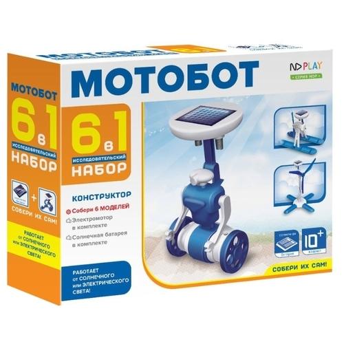 Электромеханический конструктор ND Play На солнечной энергии 265610 Мотобот 6 в 1