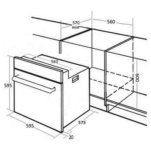 Электрический духовой шкаф MONSHER MOE 6181 X