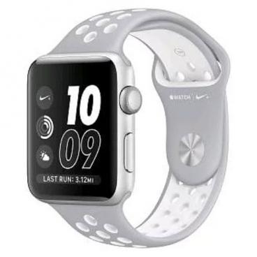 Karmaso Ремешок для Apple Watch 42 мм серый с белым