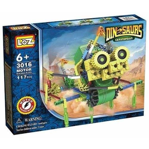 Электромеханический конструктор LOZ Dinosaurs 3016 Цератопс