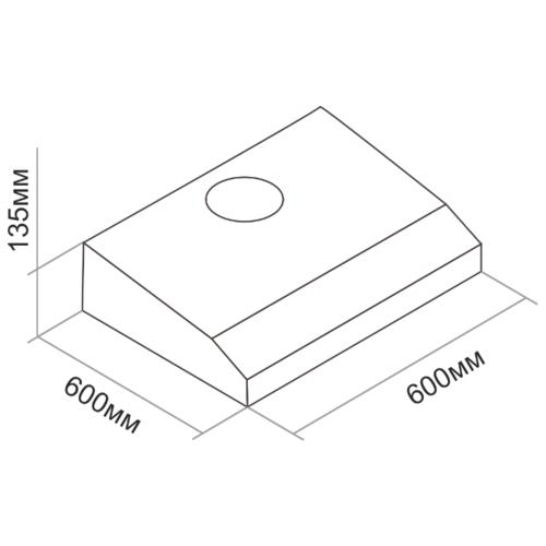Подвесная вытяжка DARINA FLAP 601 X
