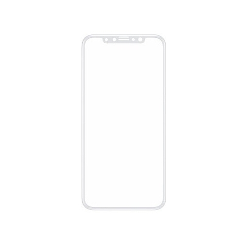 Защитное стекло Baseus Silk-screen 3D Arc Tempered Glass Film для Apple iPhone X