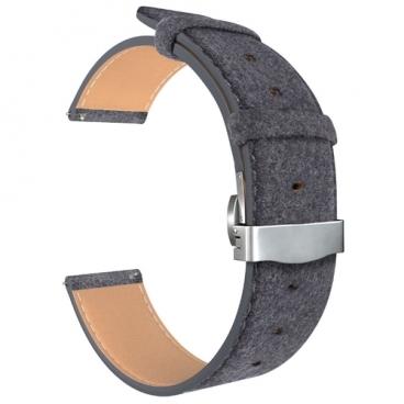 Lyambda Универсальный кожаный ремешок Minkar для часов 22 mm (DSP-10-22)