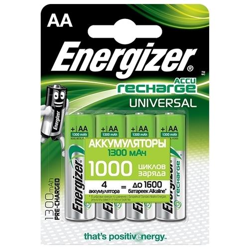 Аккумулятор Ni-Mh 1300 мА·ч Energizer Accu Recharge Universal AA