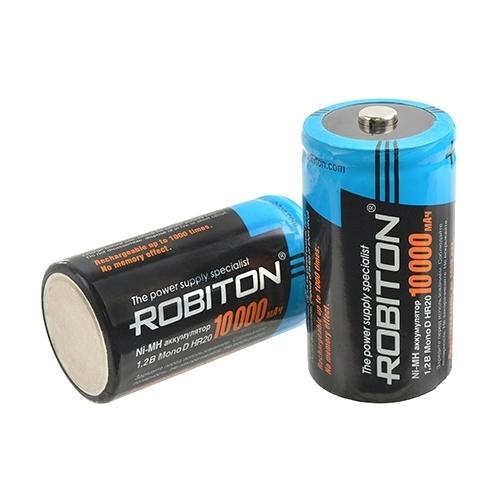 Аккумулятор Ni-Mh 10000 мА·ч ROBITON D R20 Mono 10000