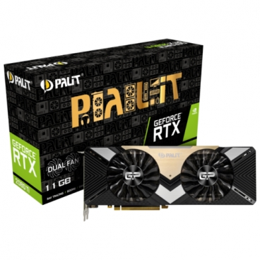 Видеокарта Palit GeForce RTX 2080 Ti 1350MHz PCI-E 3.0 11264MB 14000 МГц 352 bit HDMI 3xDisplayPort HDCP Dual