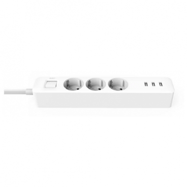 Удлинитель Xiaomi Mi Power Strip 3 (XMCXB04QM), белый, 1.4 м