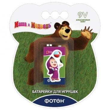 """Батарейка ФОТОН 9V/6LR61 """"Маша и медведь"""""""