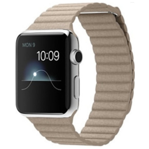 Karmaso Ремешок для Apple Watch 42 мм кожаный бежевый