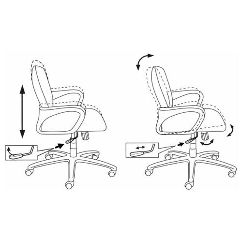 Компьютерное кресло Бюрократ CH-808-LOW офисное