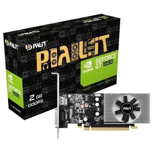 Видеокарта Palit GeForce GT 1030 1227MHz PCI-E 3.0 2048MB 6000MHz 64 bit DVI HDMI HDCP Low Profile