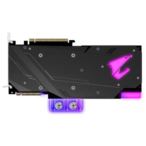 Видеокарта GIGABYTE GeForce RTX 2080 SUPER 1860MHz PCI-E 3.0 8192MB 15500MHz 256 bit 3xHDMI HDCP AORUS WATERFORCE WB