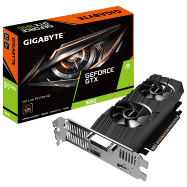 Видеокарта GIGABYTE GeForce GTX 1650 1695MHz PCI-E 3.0 4096MB 8002MHz 128 bit DVI HDMI DisplayPort HDCP Low Profile