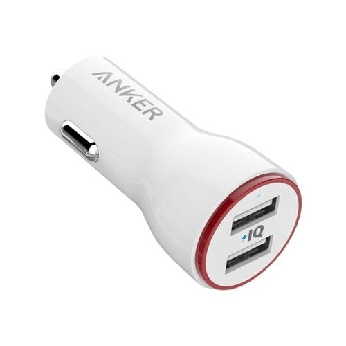 Автомобильная зарядка ANKER PowerDrive 2 + Micro USB to USB cable