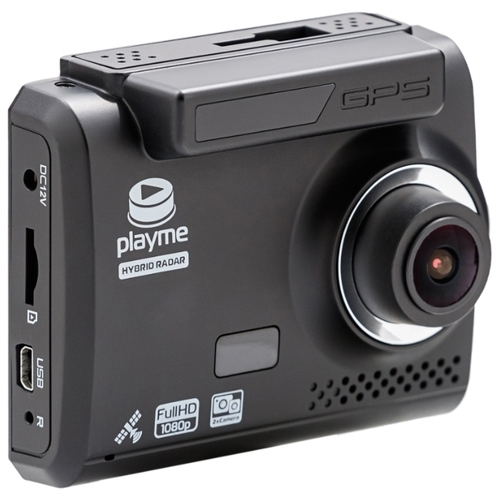 Видеорегистратор с радар-детектором Playme OMEGA, 2 камеры, GPS