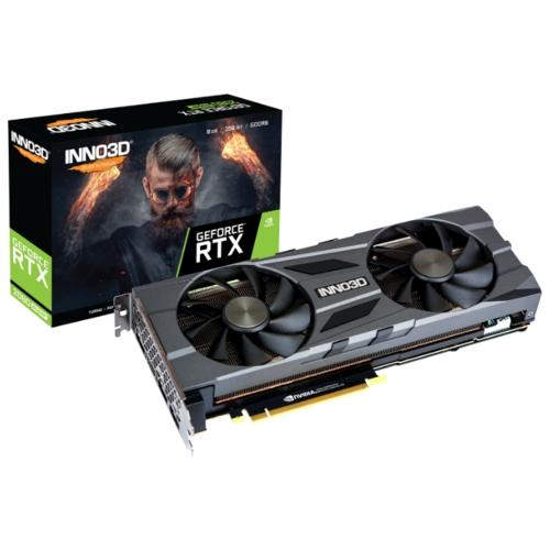 Видеокарта INNO3D GeForce RTX 2080 SUPER 1830MHz PCI-E 3.0 8192MB 15500MHz 256 bit 3xDisplayPort HDMI HDCP TWIN X2 OC
